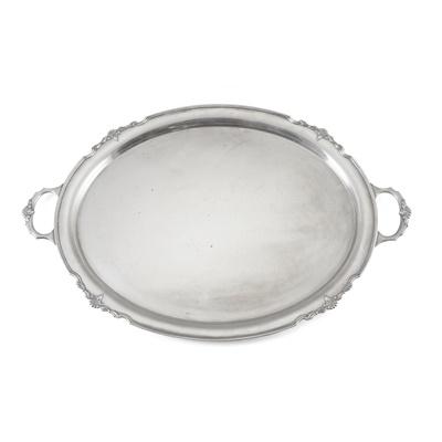 Lot 366 - A 1950s twin handled tea tray