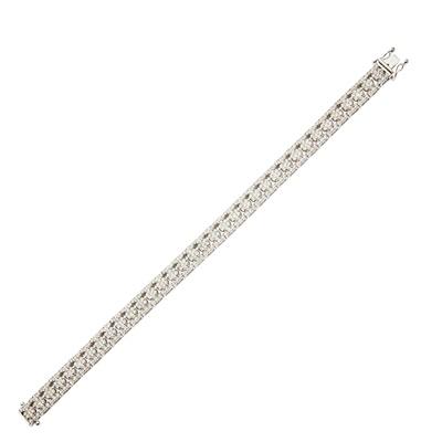 Lot 95 - A diamond bracelet