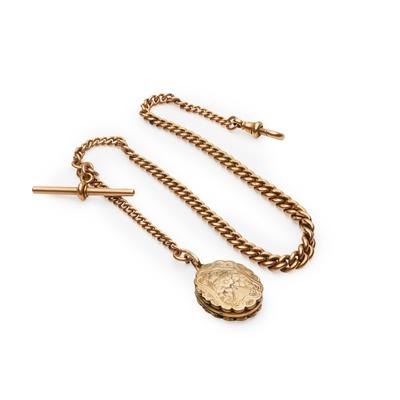 Lot 145 - A 9ct gold Albert