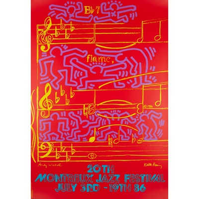 Lot 196 - ANDY WARHOL (AMERICAN 1928-1987) AND KEITH HARING (AMERICAN 1958-1990)
