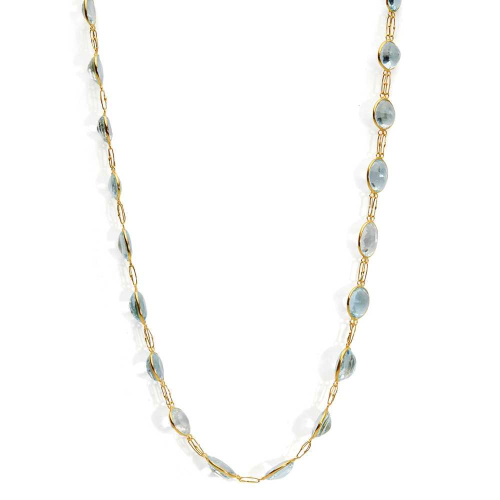 Lot 60 - An aquamarine necklace