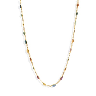Lot 38 - A coloured sapphire necklace