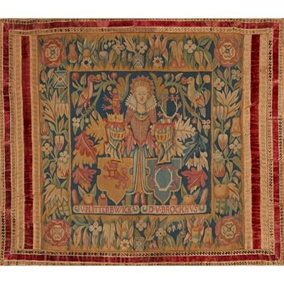 Lot 461 - BRUSSELS TAPESTRY MARRIAGE PANEL