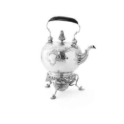 Lot 131 - ABERDEEN - A SCOTTISH PROVINCIAL SPIRIT KETTLE AND STAND