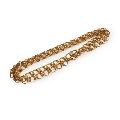 Lot 151 - A 9ct gold long chain