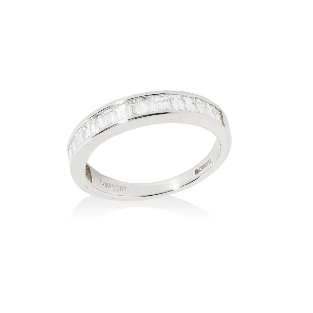 Lot 85 - A diamond half eternity ring