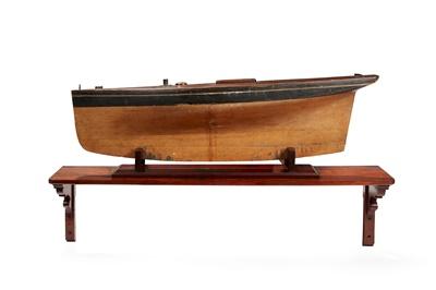 Lot 28 - A VICTORIAN SHIPS MODEL