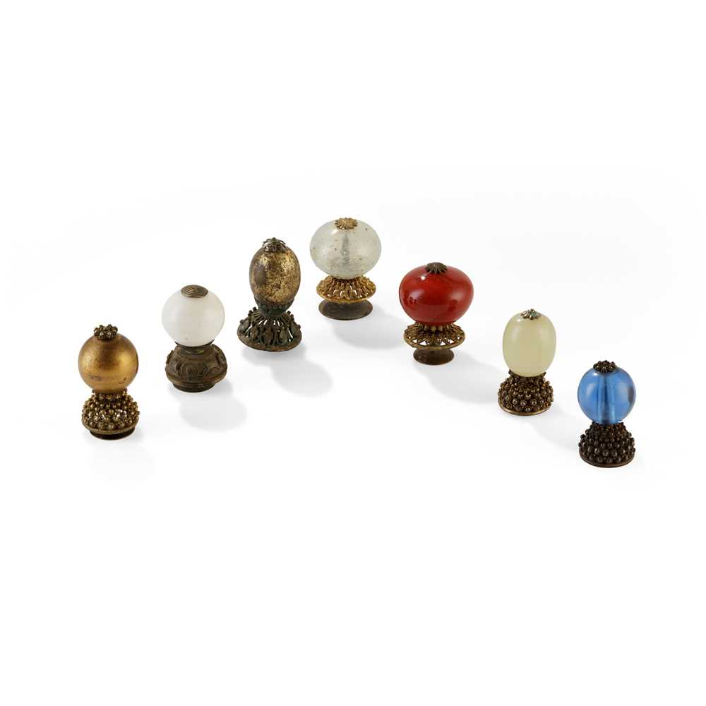 Lot 6 - GROUP OF SEVEN HAT FINIALS