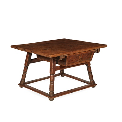 Lot 466 - DUTCH WALNUT AND PINE RENT TABLE
