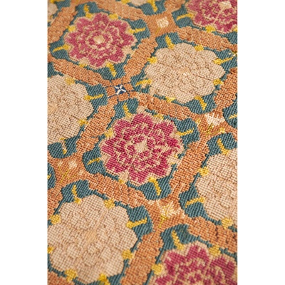 Lot 4 - ENGLISH WOOL AND PART SILK NEEDLEWORK CARPET SECTION