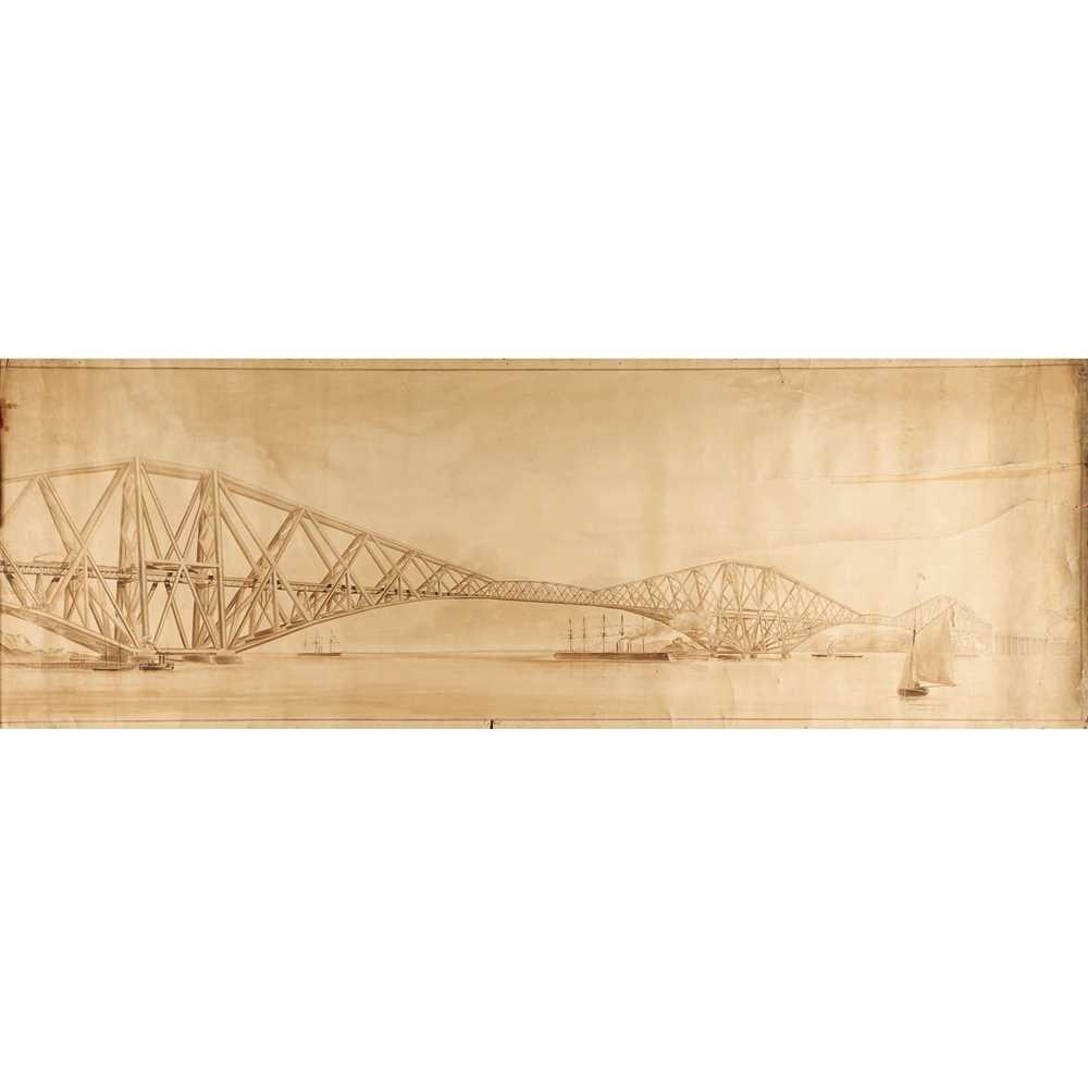 Lot 3 - Forth Rail Bridge, circa 1890 SALEROOM NOTICE: THIS MEASURES 60 x 358cm