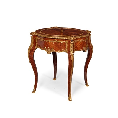 Lot 475 - FRENCH KINGWOOD AND GILT BRONZE MOUNTED JARDINIERE, IN THE MANNER OF FRANCOIS LINKE