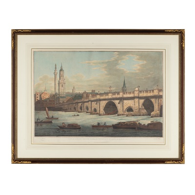 Lot 109 - TWO COLOURED AQUATINT PRINTS OF VIEWS OF LONDON, AFTER JOSEPH FARINGTON, PUBLISHED BY WILLIAM BYRNE