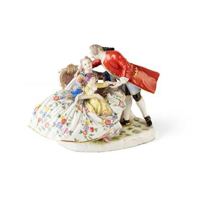 Lot 399 - MEISSEN FIGURE GROUP, 'THE LUCKY FAMILY'
