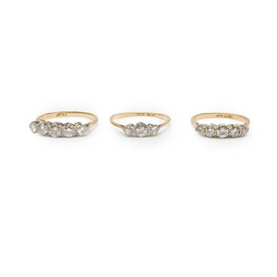 Lot 162 - Three diamond rings