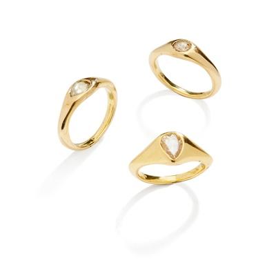 Lot 38 - Three diamond-set rings