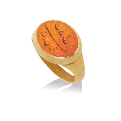 Lot 109 - A carved carnelian ring