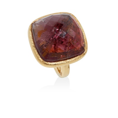 Lot 37 - A tourmaline cocktail ring