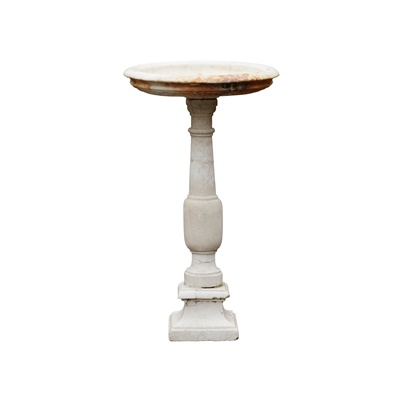 Lot 437 - EARLY ITALIAN WHITE MARBLE FONT