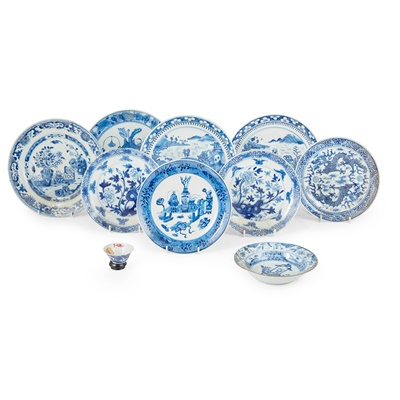 Lot 146 - GROUP OF TEN BLUE AND WHITE WARES
