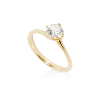 Lot 104 - A single stone diamond ring