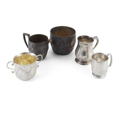 Lot 410 - A Victorian zodiac sugar basin and milk jug