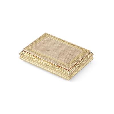 Lot 337 - A 20th century Polish gold snuff box