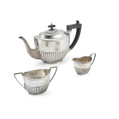 Lot 373 - A mid 20th century composite three-piece tea service