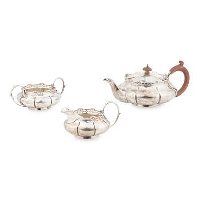 Lot 393 - A 1920s three-piece tea service