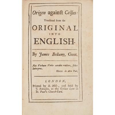 Lot 141 - Bellamy, James, translator