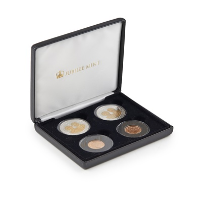 Lot 307 - G.B - A cased set of Platinum wedding anniversary for HM Queen and Prince Philip