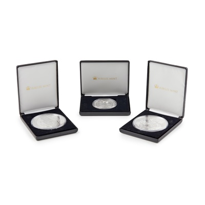 Lot 313 - G.B - Three large silver proof commemorative coins