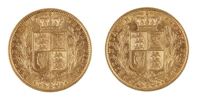 Lot 315 - G.B - Two gold sovereigns