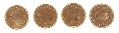 Lot 317 - G.B - Four gold proof sovereigns