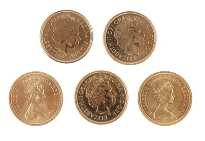 Lot 320 - G.B - Five proof sovereigns