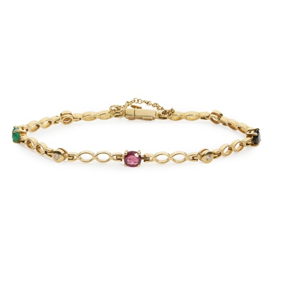Lot 113 - A multi-gem bracelet