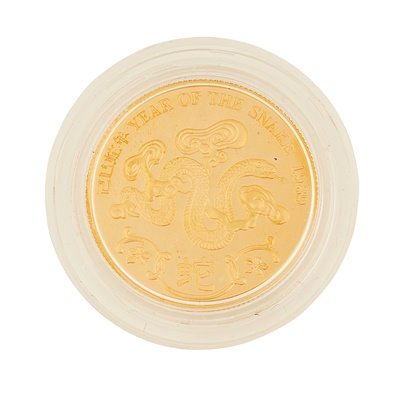 Lot 331 - Hong Kong – A year of the Snake, 1988 proof gold medal