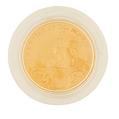 Lot 325 - Hong Kong – A year of the Monkey, 1992 proof gold medal