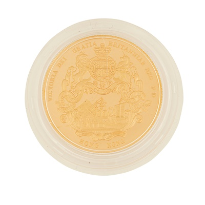 Lot 330 - Hong Kong – A year of the Snake, 1989 proof gold medal