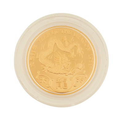 Lot 332 - Hong Kong – A year of the Dragon, 1988 proof gold medal