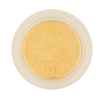 Lot 333 - Hong Kong – A year of the Dragon, 1988 proof gold medal