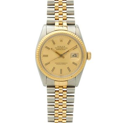 Lot 141 - Rolex: a bi-colour wrist watch
