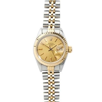 Lot 140 - Rolex: a bi-colour wrist watch
