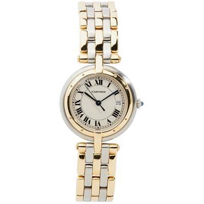 Lot 142 - Cartier: a bi-colour Panthere Vendome wrist watch