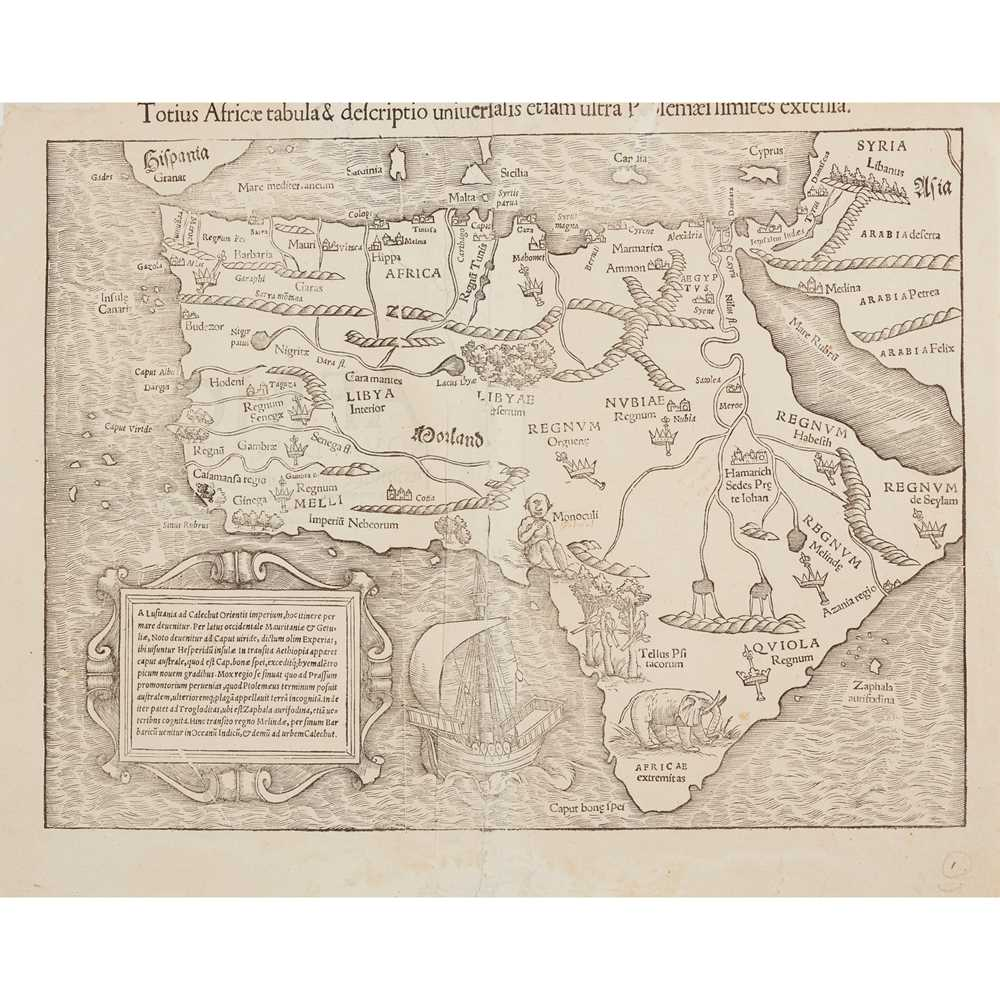 Lot 16 - [Map of Africa] Münster, Sebastian