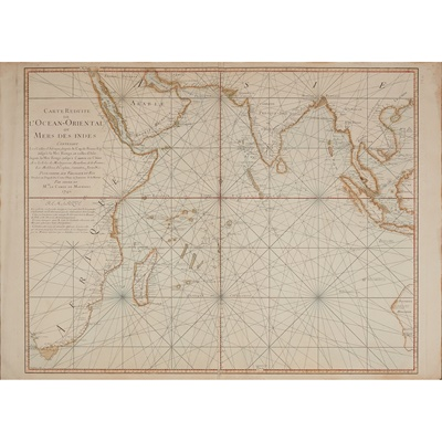 Lot 12 - [Chart of the Indian Ocean] Bellin, Jacques Nicolas