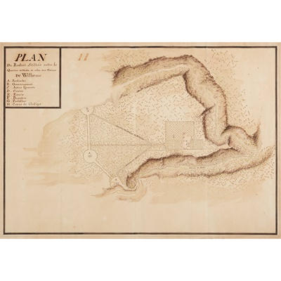 Lot 27 - Mauritius, manuscript plan