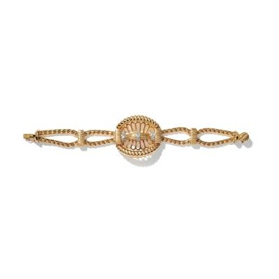 Lot 34 - A diamond-set bracelet, 1940s
