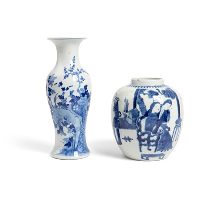 Lot 158 - TWO BLUE AND WHITE WARES