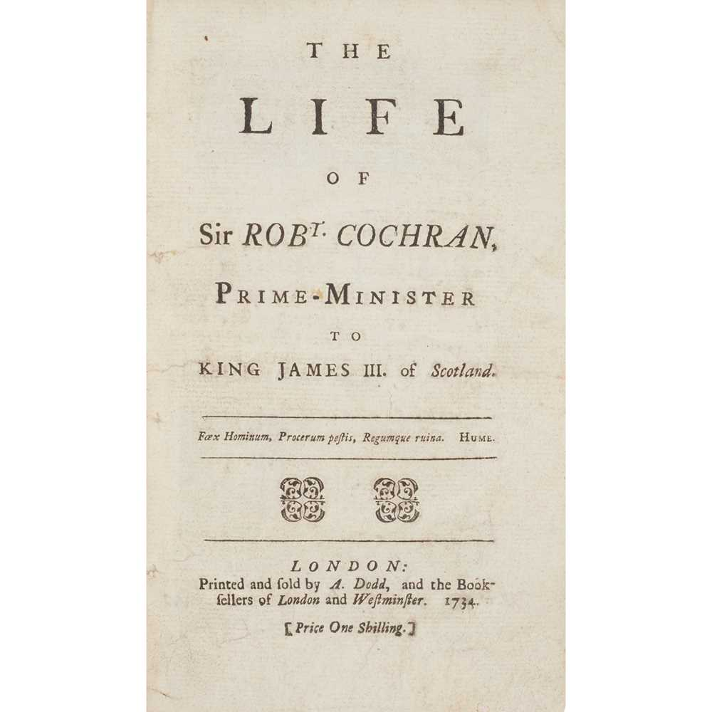 Lot 43 - 1730s pamphlets, some relating to Sir Robert Cochran